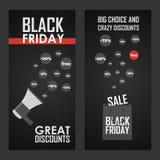 Fond typographique brillant de vente noire de vendredi Photos libres de droits