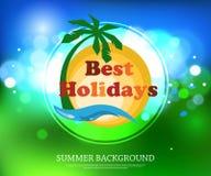 Fond typographique d'été brillant avec Images stock