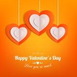 Fond typographique de jour de valentines avec Photos stock