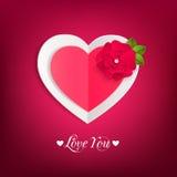 Fond typographique de jour de valentines avec le papier Photo libre de droits
