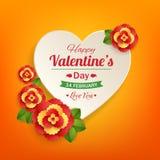 Fond typographique de jour de valentines avec le papier Photographie stock libre de droits