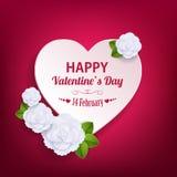 Fond typographique de jour de valentines avec le papier Photos stock