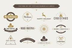 Fond typographique de Joyeux Noël et de bonne année Image libre de droits
