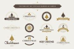Fond typographique de Joyeux Noël et de bonne année Photos libres de droits