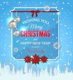 Fond typographique de Noël brillant avec illustration de vecteur
