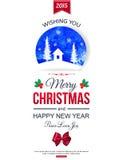 Fond typographique de Noël watercolor Images stock