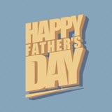Fond typographique minimal de jour de pères Photo libre de droits