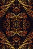 Fond unique artistique généré par ordinateur d'illustration de modèles de fractale de cru du résumé 3d vieux illustration libre de droits