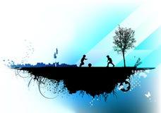 Fond urbain Image libre de droits