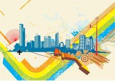 Fond urbain illustration de vecteur