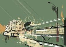 Fond urbain illustration libre de droits