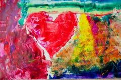 Fond urbain d'abstraction de peinture de coeur Photo libre de droits