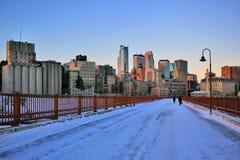 Fond urbain d'architecture de ville, vue d'hiver Image libre de droits
