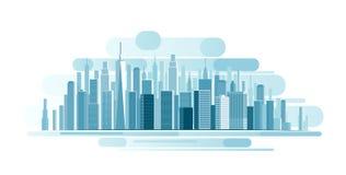 Fond urbain d'horizontal Photo libre de droits