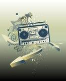 Fond urbain de musique illustration libre de droits