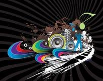 Fond urbain de musique d'horizons Photo stock