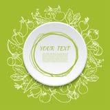 Fond végétal végétarien d'aliment biologique Photo libre de droits