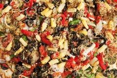 Fond végétarien d'écrimage de pizza photos libres de droits