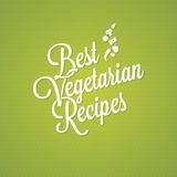 Fond végétarien de lettrage de vintage de nourriture Photographie stock libre de droits