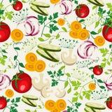 Fond végétarien de modèle de nourriture Photographie stock