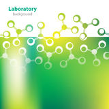 Fond verdâtre abstrait de laboratoire. Photos libres de droits