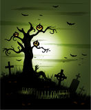 Fond verdâtre de Halloween Images stock