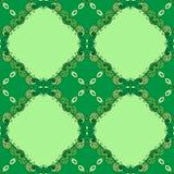 Fond vert élégant fait en modèle décoratif floral Photographie stock