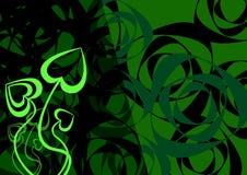 Fond vert abstrait Photo libre de droits