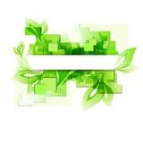 Fond vert abstrait Image stock