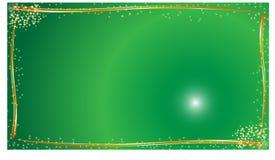 Fond vert abstrait avec des étoiles Image libre de droits