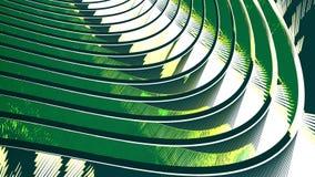 Fond vert abstrait avec l'écoulement onduleux Image stock