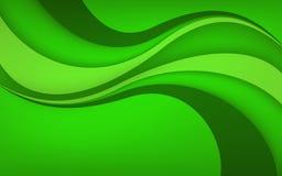 Fond vert abstrait avec la vague Illustration de vecteur Images stock