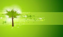 Fond vert abstrait d'arbre Photos stock