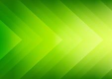 Fond vert abstrait de flèches d'eco Image libre de droits