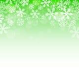 Fond vert abstrait de Noël Photos libres de droits