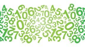 Fond vert abstrait de nombre illustration stock