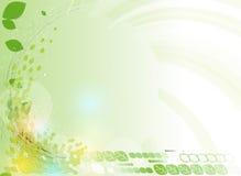 Fond vert abstrait de technologie d'écologie d'hexagone de point Image libre de droits
