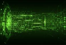 Fond vert abstrait de technologie de communication numérique illustration libre de droits
