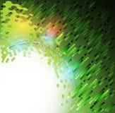 Fond vert abstrait de technologie de Web d'hexagone d'écologie Images stock