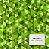 Fond vert abstrait de triangle Image libre de droits