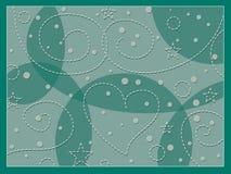 Fond vert avec des coeurs Images stock