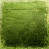 Fond vert avec des fleurs Images libres de droits