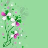 Fond vert avec des fleurs de couleur pour la conception illustration libre de droits