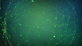 Fond vert avec le plexus tournant illustration stock