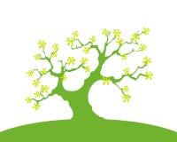 Fond vert avec les arbres et la terre, d'isolement Photographie stock