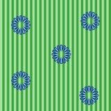 Fond vert avec les fleurs bleues Photos libres de droits