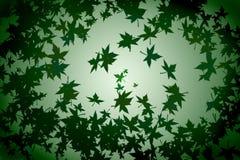 Fond vert avec les lames tombées illustration stock