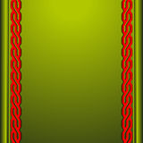 Fond vert avec les ornements rouges Images stock