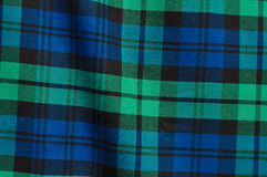 Fond vert-bleu de plaid Photos stock