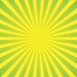 Fond vert clair de rayons Photos libres de droits